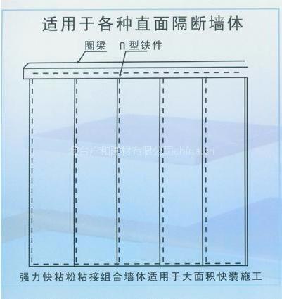 适用于各种直面隔断墙体